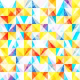 Watercolors. Abstract geometric background with bright triangles grunge texture Stock Illustration