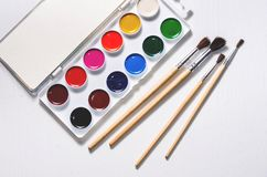 Free Watercolors And Brushes Royalty Free Stock Photo - 102330555