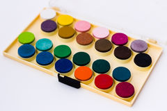 Watercolors Box Royalty Free Stock Photos