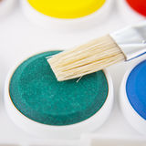 Watercolors  and brush background Royalty Free Stock Images