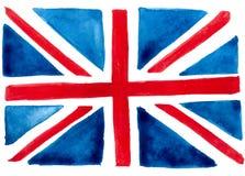 Watercolors Hand drawing. British flag. Art Texture background. Vector illustration. Watercolors Hand drawing. British flag. Art Texture background vector illustration