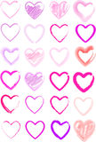 Watercolors heart set Stock Images