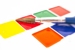 Watercolors  isolated on the white background Royalty Free Stock Photos