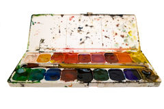 Watercolors palet Stock Photography