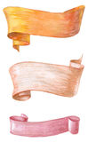 Watercolors ribbons. And banners for text royalty free illustration