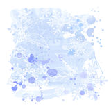 Watercolors & snowflakes Royalty Free Stock Image