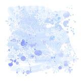 Watercolors & snowflakes royalty free illustration