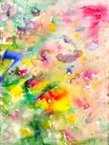 Watercolors stains and flowing paints. Hand drawn Stock Photography