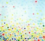 Watercolour με τις πεταλούδες Στοκ Εικόνες