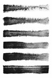 watercolour Σύνολο αφηρημένων μαύρων υποβάθρων κτυπήματος watercolor Στοκ φωτογραφία με δικαίωμα ελεύθερης χρήσης