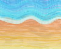 watercolour пляжа Стоковая Фотография RF