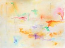 Watercolour Abstract Illustration. Original Watercolour Abstract Colour experimenting  painting Royalty Free Stock Photo
