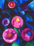 Watercolour abstrakt fotografia stock