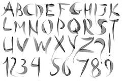 Watercolour Alphabet Royalty Free Stock Photography