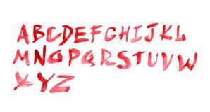 Watercolour alphabet Stock Images