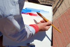 watercolour artysty Obrazy Royalty Free