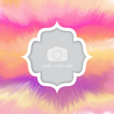Watercolour background with frame for photo Royalty Free Stock Images
