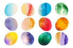 Watercolour blobs vector illustration