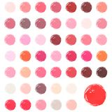 Watercolour blobs, stains, splashes. Set of colorful watercolor hand painted circle isolated on white. Love watercolor colors stock illustration