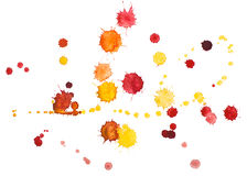 Watercolour blots Stock Images