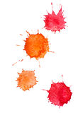 Watercolour blots Stock Image