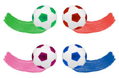 Watercolour Blush and one soccer ball Stock Image