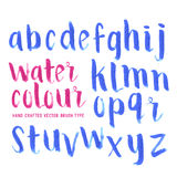 Watercolour Brush Letters Stock Photography