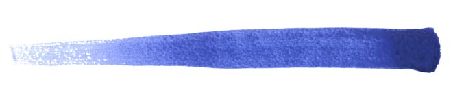 Watercolour brush stroke. A blue watercolor brush stroke in white back Royalty Free Stock Photography