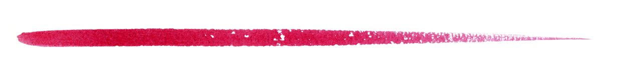 Watercolour brush stroke. A red watercolor brush stroke in white back Stock Photos