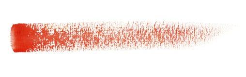 Watercolour brush stroke. A red watercolor brush stroke in white back Stock Image