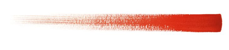 Watercolour brush stroke. A red watercolor brush stroke in white back Stock Photography