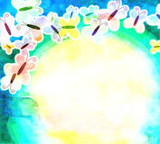 Watercolour Butterfly Background Royalty Free Stock Photography