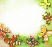 Watercolour Butterfly Background Stock Images