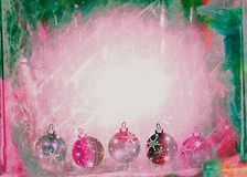 Watercolour Christmas Bauble Paper Stock Photography