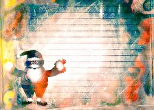 Watercolour Christmas Santa Paper Royalty Free Stock Images