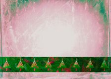 Watercolour Christmas Tree Paper Stock Photography
