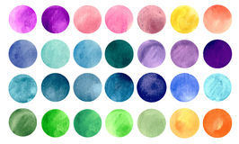 Watercolour circle textures Stock Image