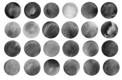 Watercolour circle textures. Mega-useful pack for Royalty Free Stock Images