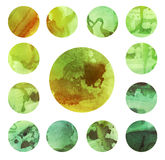 Watercolour circle textures. Mega-useful pack for Stock Photo