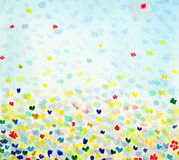 Watercolour com borboletas Imagens de Stock