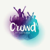 Watercolour Crowd Of People Royalty Free Stock Photo