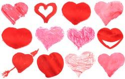 Watercolour da pintura do coração do amor Imagem de Stock