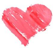 Watercolour da pintura do coração do amor Fotografia de Stock