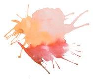 Watercolour do sumário do vintage/pintura retros coloridos da mão arte do aquarelle no fundo branco Imagens de Stock