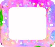 Watercolour Floral Frame. Royalty Free Stock Photography