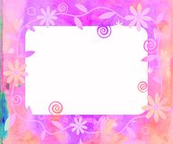 Watercolour Floral Frame. Royalty Free Stock Images