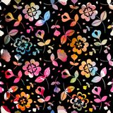 Watercolour floral seamless pattern vector illustration