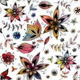Watercolour floral seamless pattern Royalty Free Stock Photography