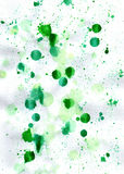 Watercolour green abstract background for print and web Stock Photography