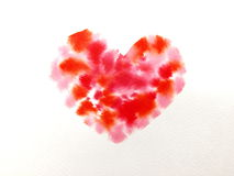 Watercolour heart Stock Photo